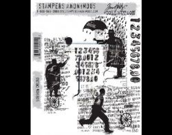 CMS263 Stampers Anonymous Tim Holtz Cling Mounted Stamp Set - Sideshow